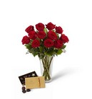 The FTD Red Rose & Godiva Bouquet from Backstage Florist in Richardson, Texas